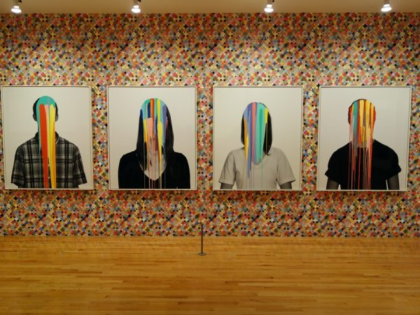 """Pop heads"" as part of the Douglas Coupland exhibit at the Vancouver Art Gallery"