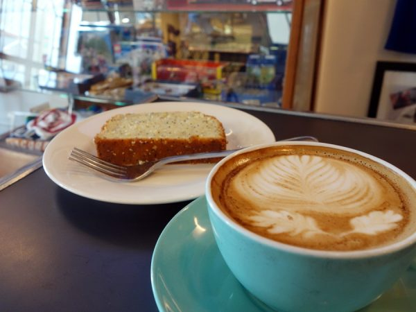 "Americano misto and ""To Die For Lemon Loaf"" at Musette Caffe"