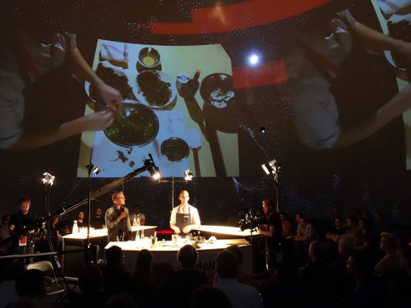 Aaron Langille, recently of Cafe Sardine in Montreal, leads a Masterclass demo.