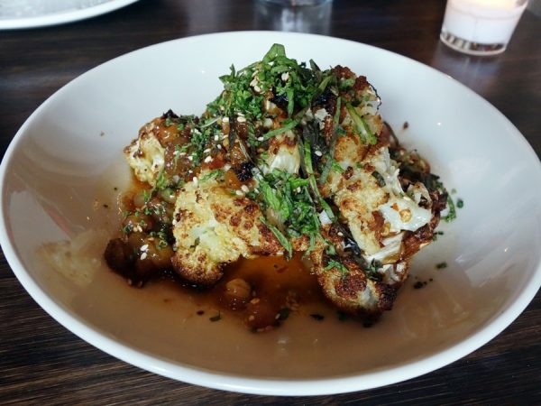 Ox: Roasted Cauliflower, Spicy Golden Raisin Vinaigrette, Toasted Sesame Seed, Mint