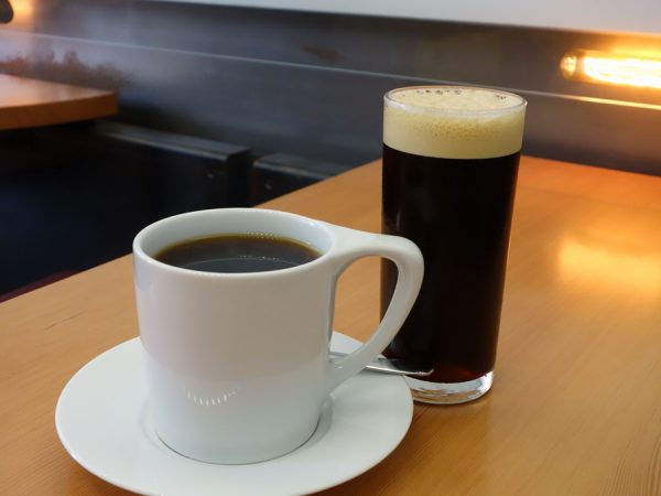 Pour-over and cold brew coffees at Timbertrain