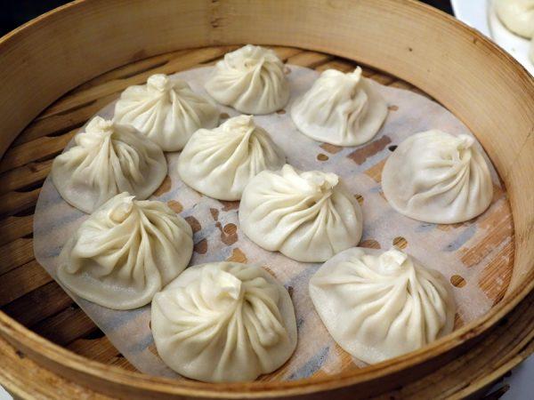 Dough Zone's juicy pork buns (xiao long bao)