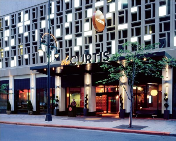 Exterior of The Curtis hotel (photo courtesy of The Curtis)