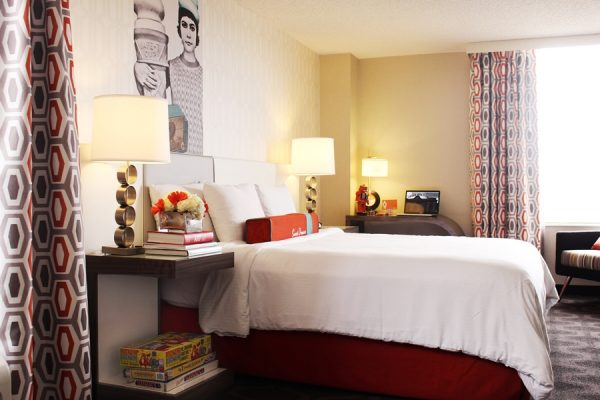 Regular guest room at The Curtis  (photo courtesy of The Curtis)