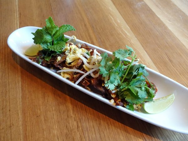 Pad Thai pig ears at Euclid Hall Bar & Kitchen