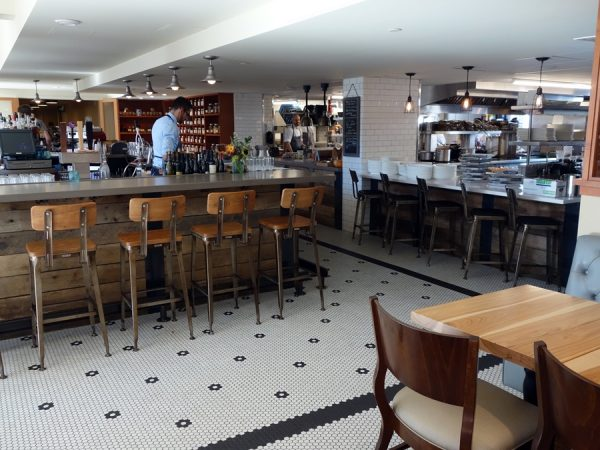 Open kitchen and bar at Mercantile Dining & Provision