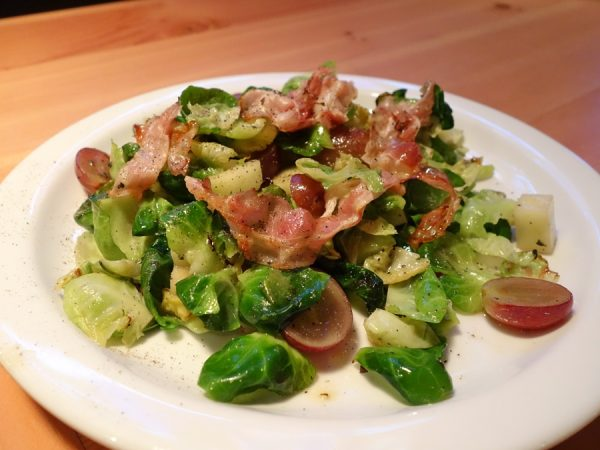 Half-order of Brussels sprouts with pancetta