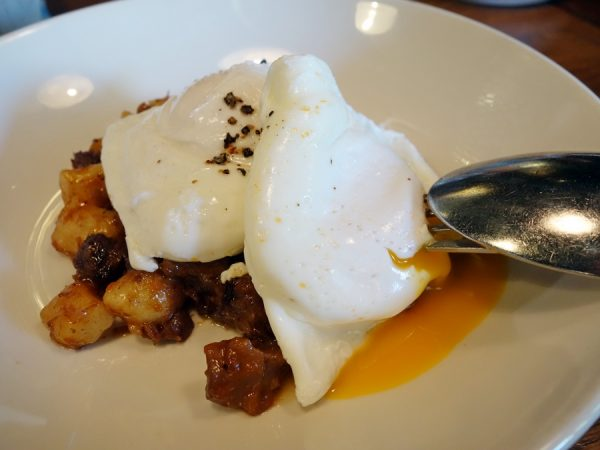 Perhaps the best way to eat fresh eggs: poached