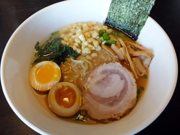 Miso ramen with ajitama: seasoned soft egg