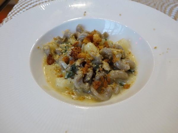 Cavatappi & cheese: Trentino-style mac & cheese with roasted onion and new potato