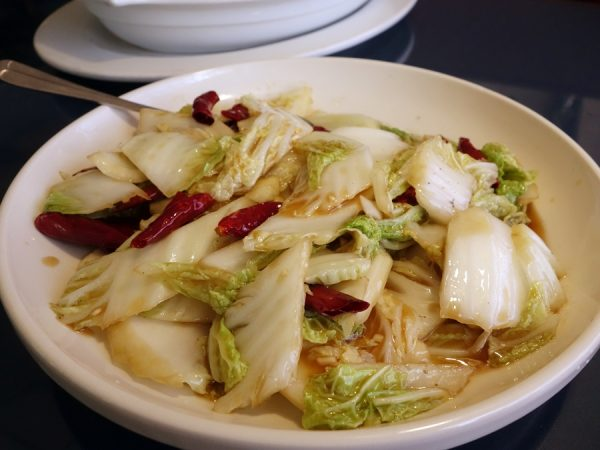"""I agree with Kenji that this """"Mandarin cabbage with spicy & sour"""" is a surprise hit. I enjoyed the smoky, slightly spicy hit on the otherwise (to me) staid cabbage, with vinegary sauce countering the spiciness a bit."""