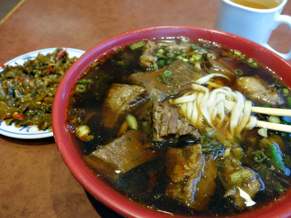 Braised beef flank and tendon with noodle in soup
