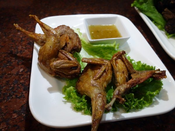 Fried quail at Mekong Bistro
