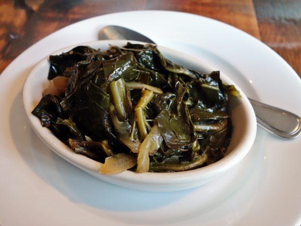 A side of collard greens at Roux