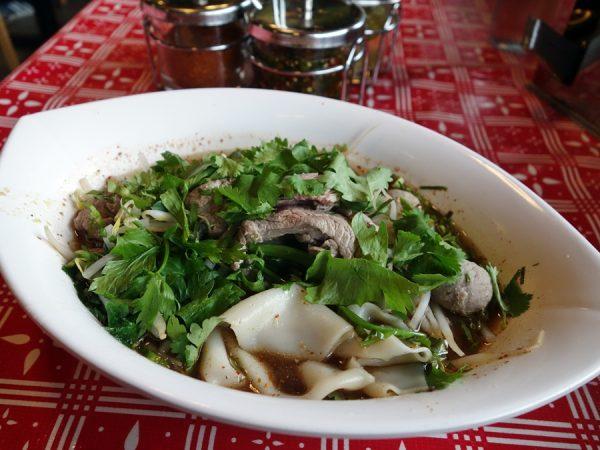 Boat noodle soup at Sen Yai (I naturally went for wide noodles!)