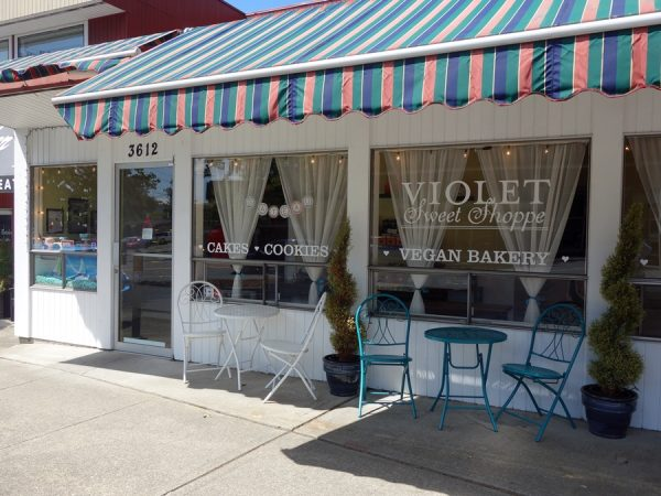 Outside the Violet Sweet Shoppe