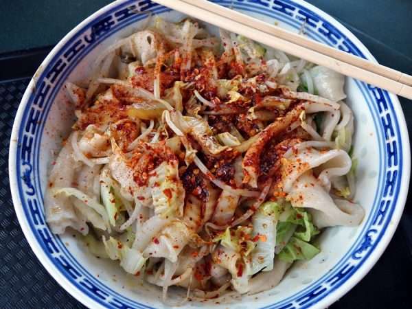 Biang-biang noodles at Richmond Public Market's Xi'An Cuisine