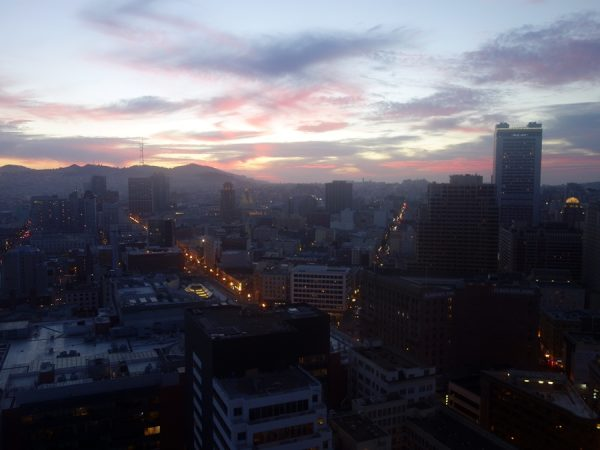 Room with a view: from the San Francisco Marriott Marquis