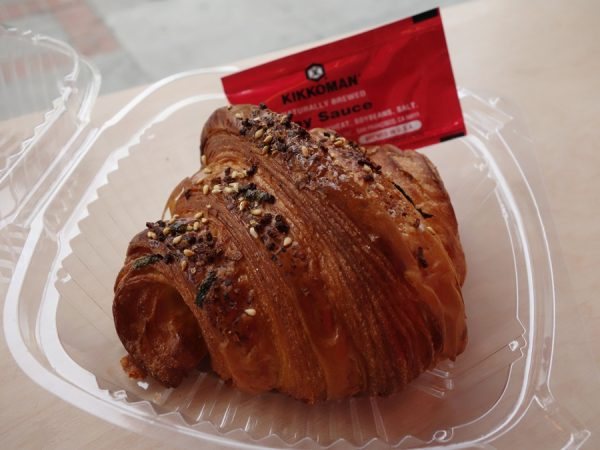 """California croissant"" at Mr Holmes Bakehouse with, yes, soy sauce..."