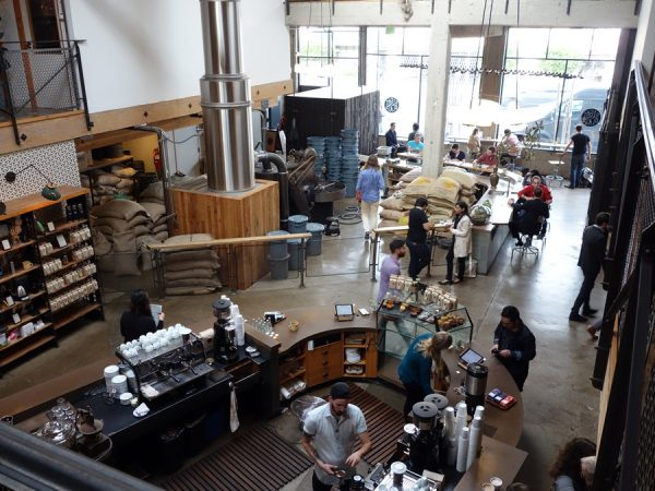 The scene at Sightglass Coffee on 7th in SoMa