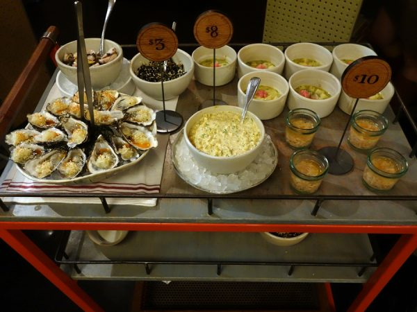 "Seafood ""dim sum"" cart at State Bird"