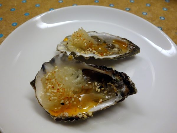 State Bird: Hog Island Sweetwater oysters with spicy kohlrabi kraut and toasted sesame