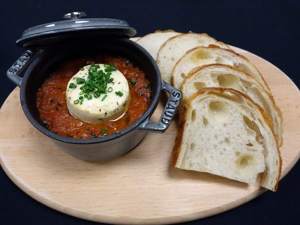 The View's baked Laura Chenel goat cheese with spicy tomato fondue