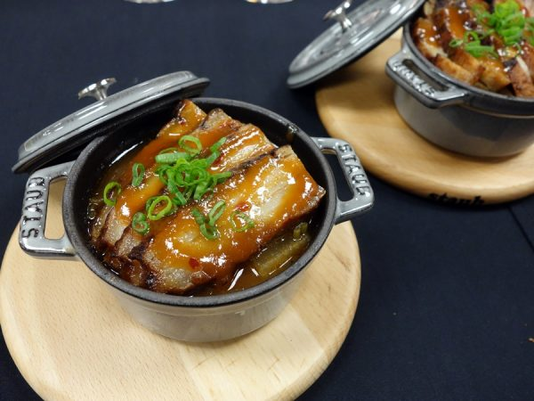 My favorite of the bites at The View: braised pork belly with miso glaze and braised daikon