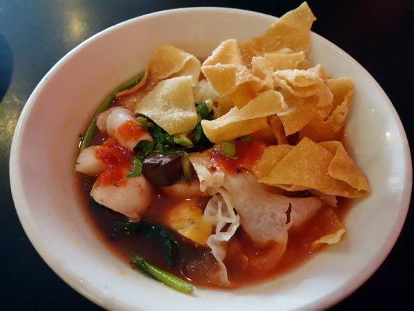 Also on the Thai menu board at Zen Yai: yen ta fo