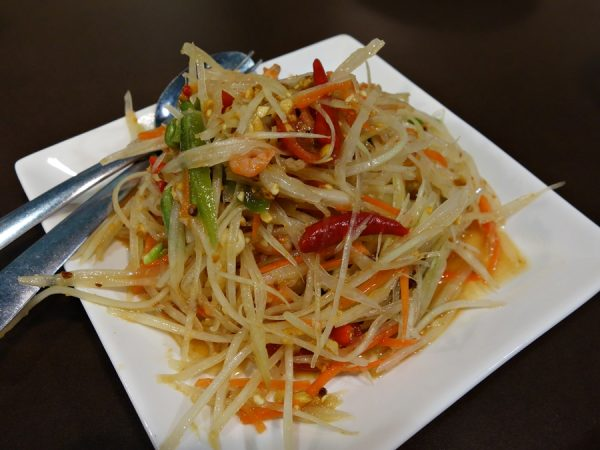 Green papaya salad at Pop Pop Thai Street Food