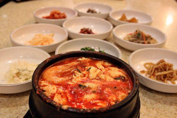 Soon doo-bu jigae at Hae-Nam Kalbi & Calamari