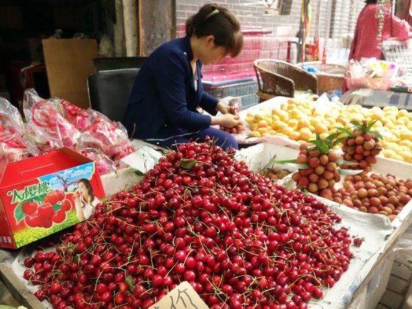 Market scene: fruit