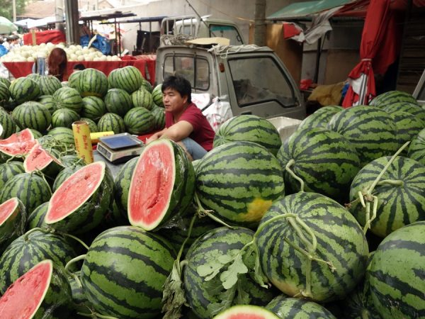 Meditating over watermelons?