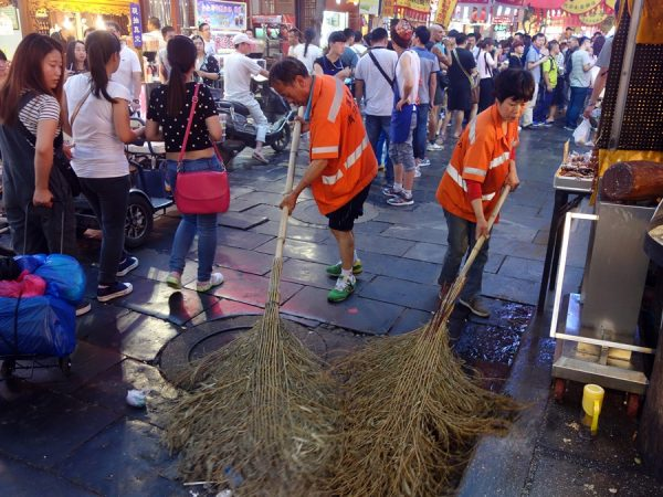 Ongoing clean-up in the streets