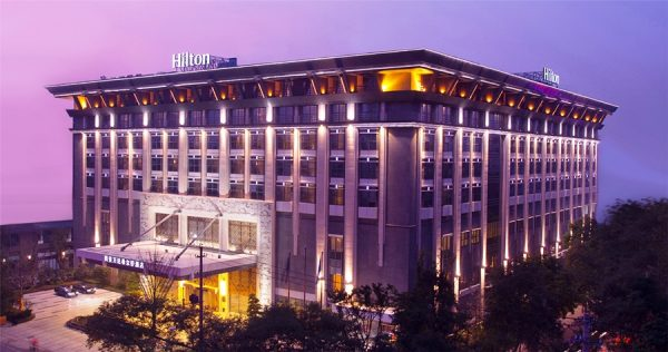 Exterior of the hotel (photo courtesy of Hilton Xi'an)