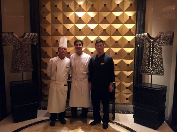 Yours truly, reporting for duty at the Hilton Xi'an kitchen