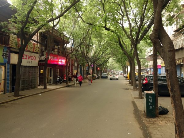 A pleasant street to stroll, close to the Hilton Xi'an