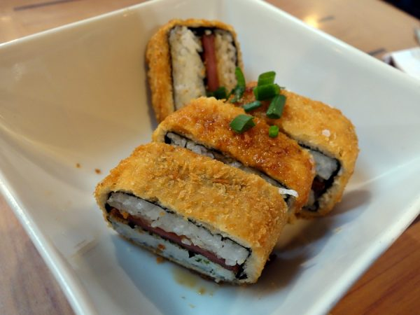 Fried spam musubi at Da Kitchen (better than the loco moco!)