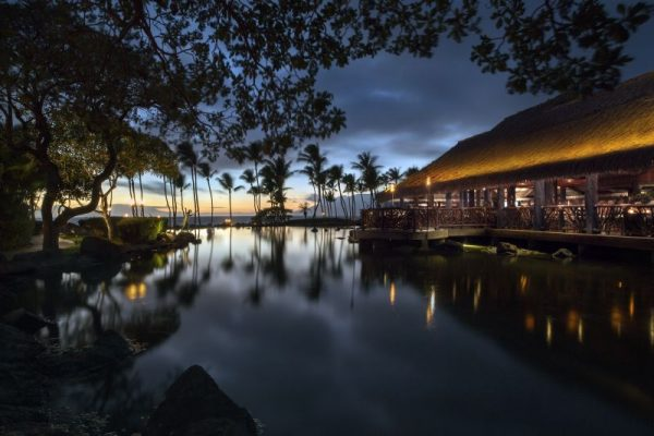 Wow! That little bump-out is where we enjoyed dinner at Humuhumunukunukuapua'a (photo courtesy of Grand Wailea)