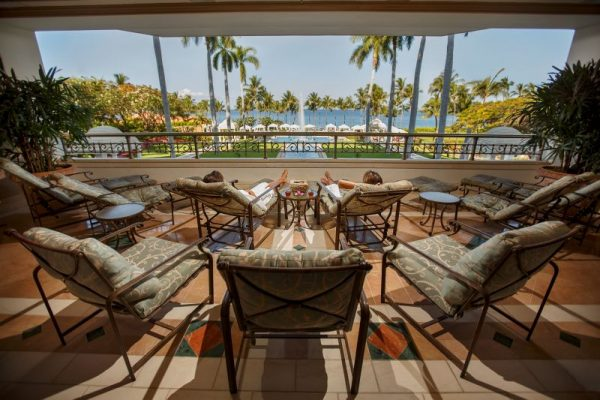 Spa Grande's lanai (photo courtesy of Grand Wailea)