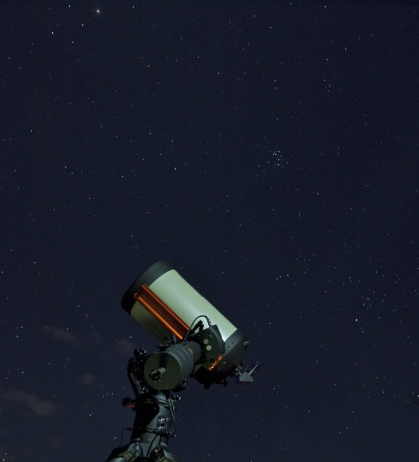 "Terrific telescope viewing as part of the Hyatt's ""Tour of the Stars"" (photo courtesy of the Hyatt Regency Maui Resort and Spa)"