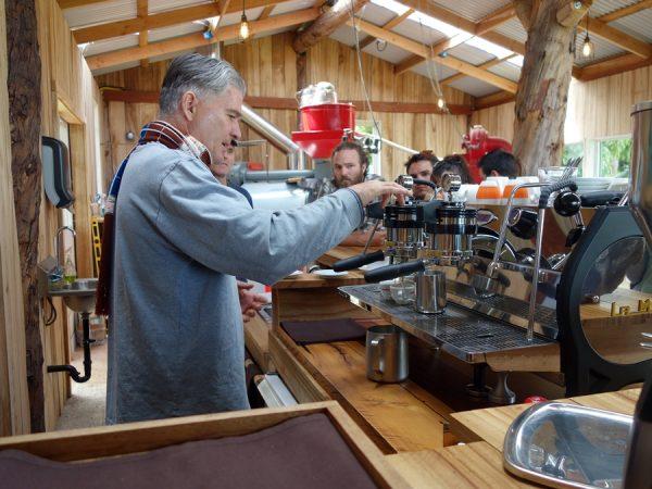 Clark pulling espresso