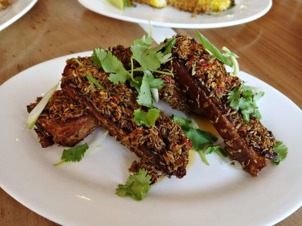 Chili cumin pork ribs - perhaps too many cumin seeds, but great for appearance and flavor...I would have liked these ribs (the meat was delicious!) just a little spicier