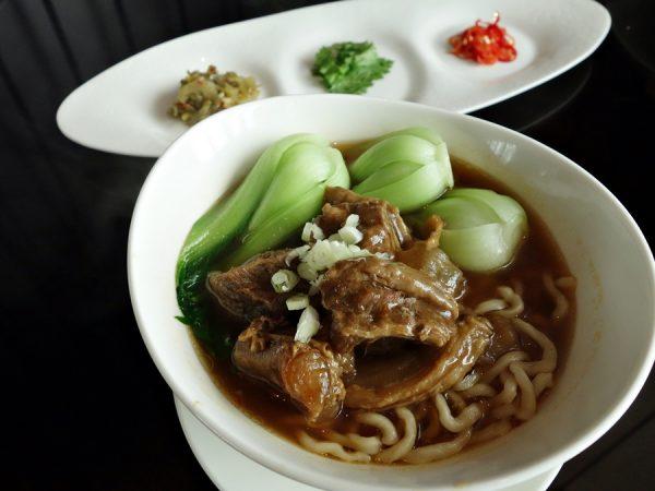 The upscale beef noodle soup at YEN