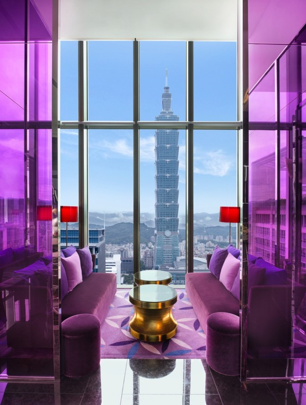 "A ""private room"" at YEN bar, complete with view of Taipei 101"