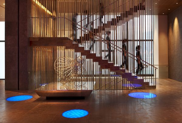 """Mood stairs"" at the W Taipei"