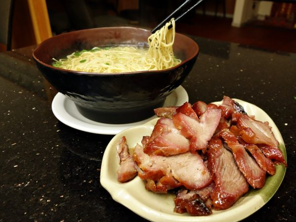 Noodles and BBQ pork