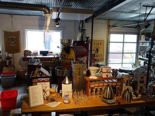 Inside Brio Coffeeworks
