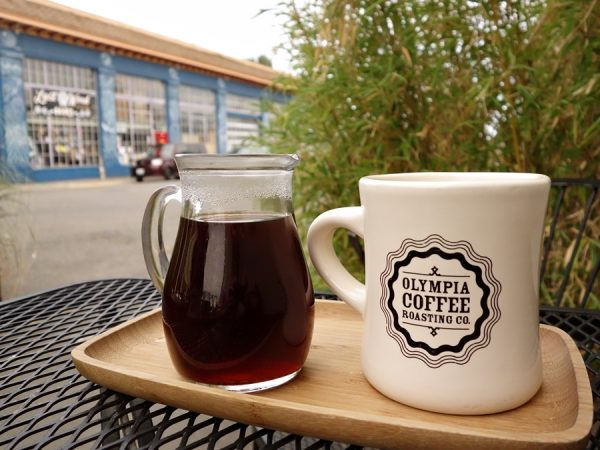 Enjoying Olympia Coffee