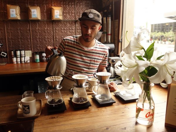 Pourover at Olympia Coffee